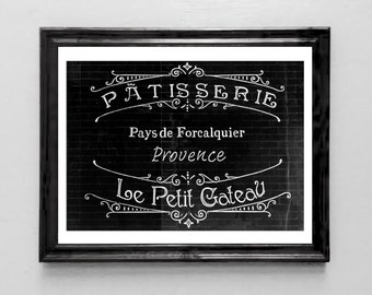 The French Bakery Art Print