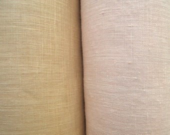 Linen Fabric Pastel Shades, By The Yard