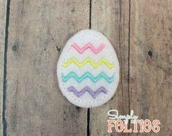 Easter Egg Felties--Pastel Rainbow--Set of 4
