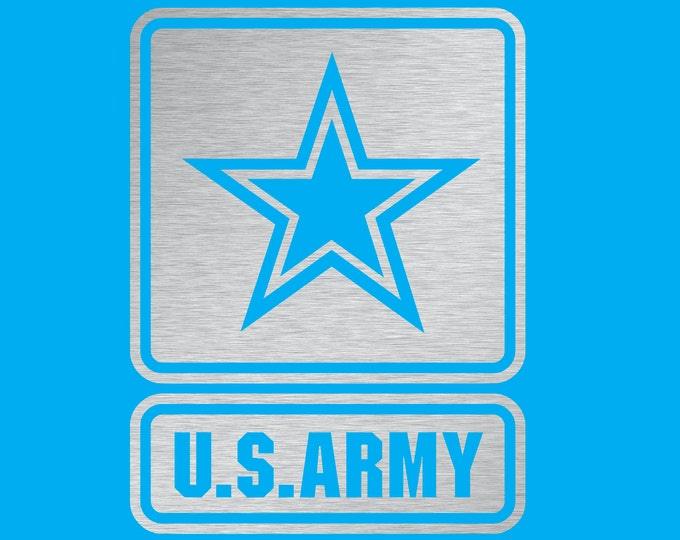 US Army Chrome Silver Vinyl Decal 4""