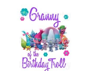 Instant Download, Digital File, Granny, Grandma, Birthday, Digital Image, DIY shirt Printable Iron On Transfer Sticker, Birthday Shirt image