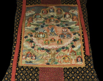 Antique Tibetan Thangka, Mahakala, Authentic, 18th Century