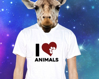 Show your love for animals with this classic T-shirt for Animal Lovers MUF-12088