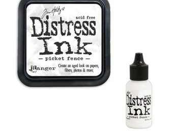 Tim Holtz Ranger Distress Ink Duo-Picket Fence-Ink Pad and Reinker Bundle