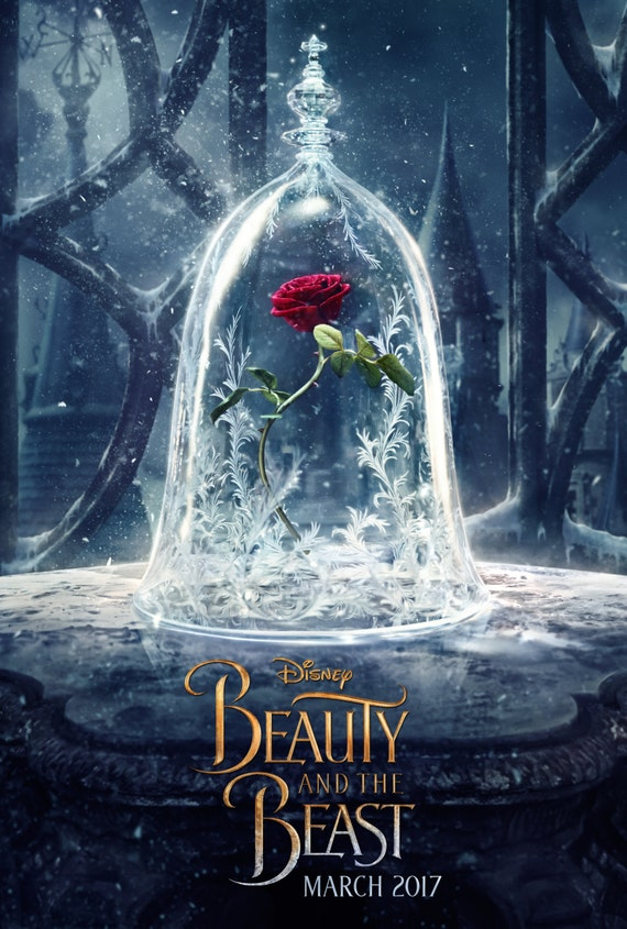 Beauty and the Beast 2017 Disney Movie, Emma Watson Poster Beauty and the Beast Print Emma Watson Poster Movie Art Size 13x20 24x36 32x48 #4