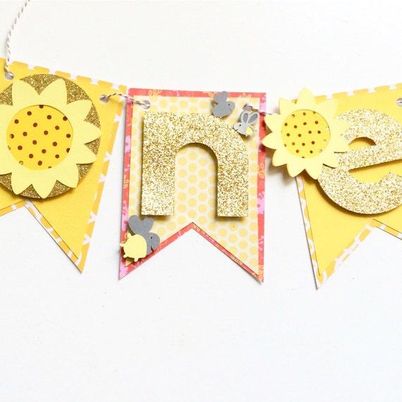 Sunflowers And Fireflies First Birthday Smash Cake Set
