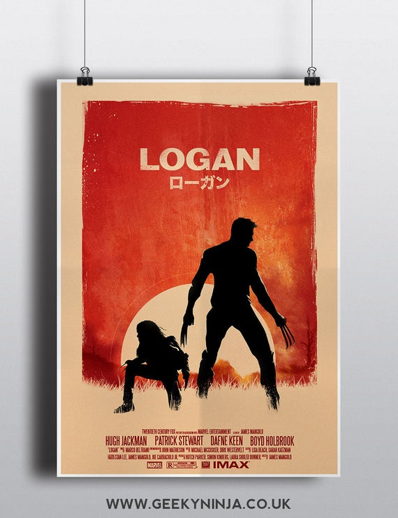 Logan Inspired Minimalist Movie Poster - Logan Minimalist Poster - Alternative Logan Movie Poster