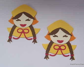 Pilgrim girl die cut