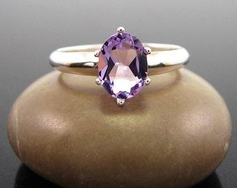 ring amethyst, amethyst ring silver, genuine amethyst ring, amethyst silver ring, ring size 3 4 5 6 7 8 9 10 11 12 13 ring silver