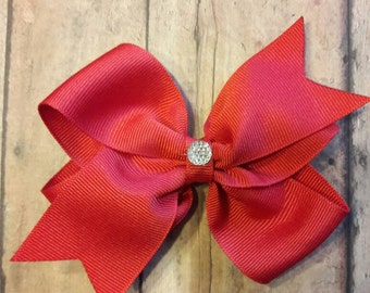 Red Classic Hair Bow.