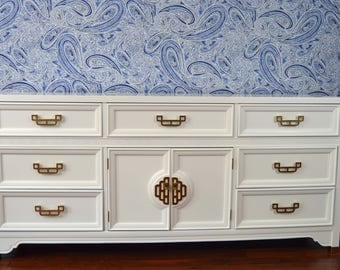 SOLD ***** White Lacquered Dresser
