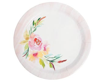 My Sweet Floral Vintage Collection Dinner Plates/ wedding plates/ Bridal shower Plates/ floral plates/ Pastel plates/