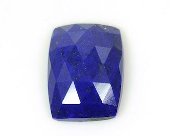 Lapis Lazuli Rose Cut  7.05cts 100% AA Natural Lapis Gemstone Slice Cushion shape Rose Cut Slice 11*15mm ForJewelry