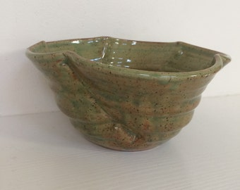 Celedon Green Hand Made Ceramic Bowl- Marissa Ceramic Bowl -