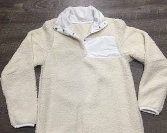 Ivory Sherpa Pullover IN STOCK