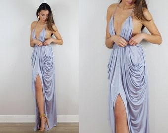 Silver Bridesmaid Dress, Grey Bridesmaid Dress, Wedding, Silver Prom Dress, Grey Wedding, Silver Wedding, Baby Shower Dress, Bridal Shower