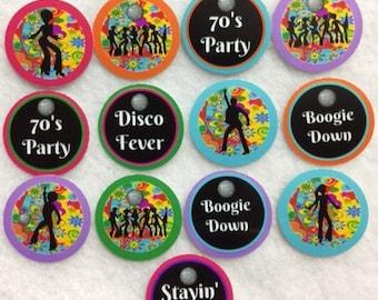 Set of 50/100/150/200 1970's  Disco Party  1 Inch Confetti Circles