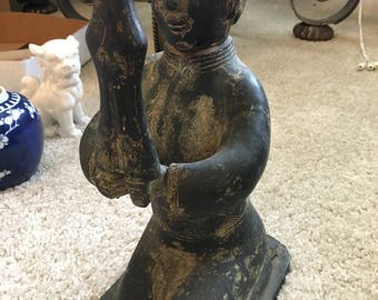 Tall Bronze Chinese Statue.