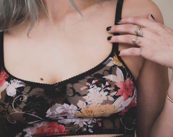 Dark Floral Bralette