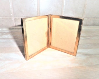 Vintage small 2 3/4 inch brass picture frame