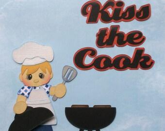 Kiss the cook paper piecing scrapbook embellishment set