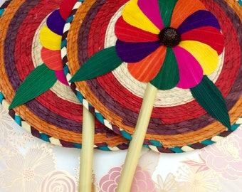 6pcs Mexican theme party favor fans