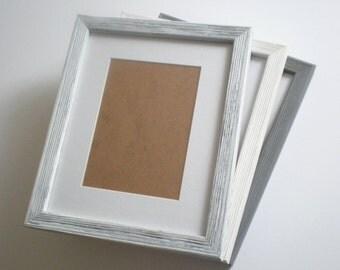 Photo frame 8x10 BROWN picture frame 20x25 cm CHOOSE Colour rustic frame WOOD frame wall decor barnwood frame housewares RusticFrameShop