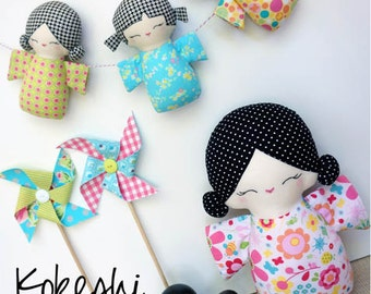 Melly & Me - Kokeshi Family Sewing Pattern