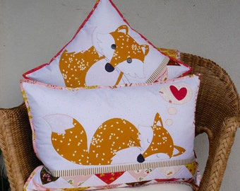 Claire Turpin Designs - Foxie Cushions - Sewing Pattern - Applique Pattern