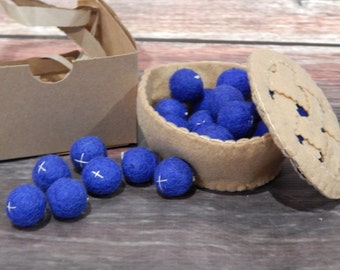 Felt Blueberries: Play Food, Pretend Play, Photo Prop