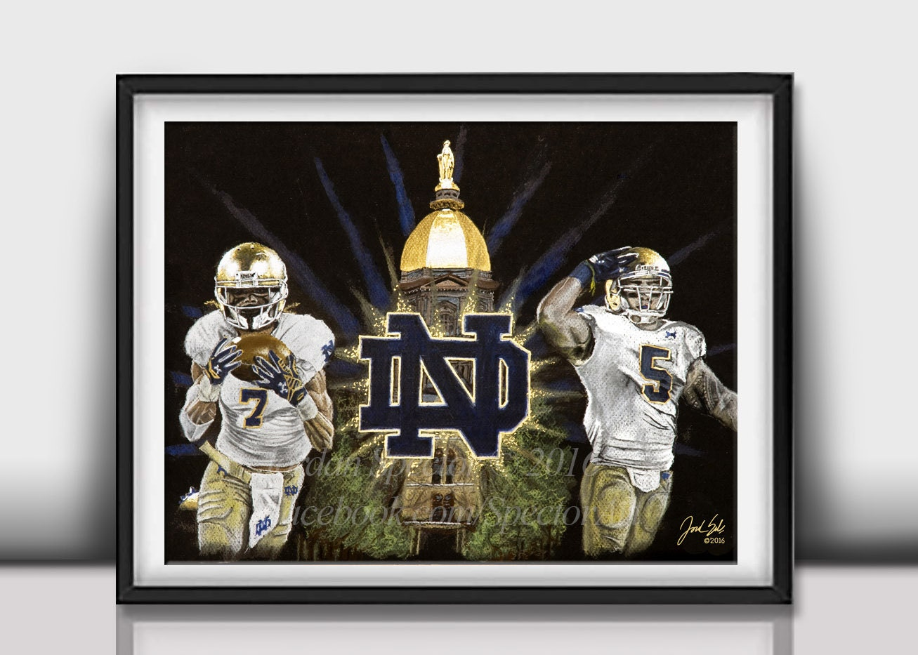 Notre Dame Man Cave Ideas : Notre dame university football art print