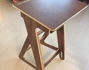 Adjustable Height Wood Desk, Computer Desk, Home Office Desk, Barn Wood Desk, Shabby Chic, Laptop Wood Table