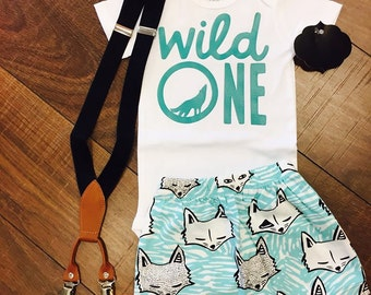 "Wild One ""Wolf' First Birthday I Boys First Birhday"