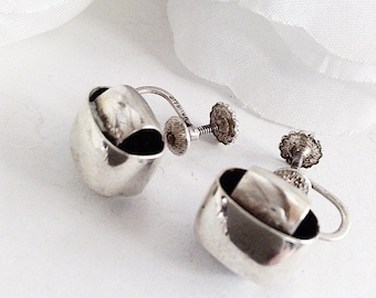 Sterling Silver Earrings, Silver Knot  Earrings, Vintage  Earrings, Classic  Earrings, Conservative  Earrings, Vintage Silver Jewellery
