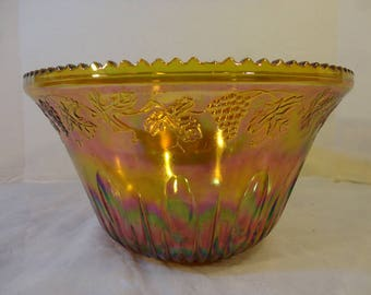 Indiana Glass Co. Punch Bowl Vintage hand made antique with the ladle