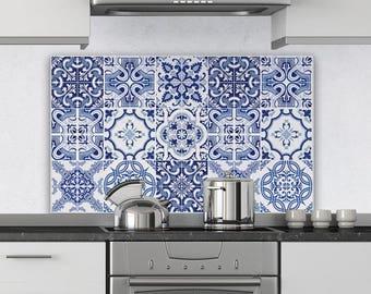 "PR00005 ""Splashguard Praiano"" 100x60 cm printed on acrylic glass Kitchen Design Stickers"