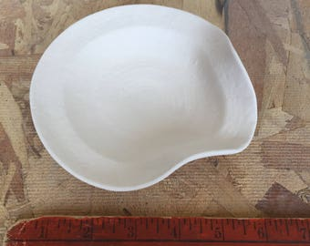 Stoneware Spoon Rest Cone 6 Bisque Ready to Paint