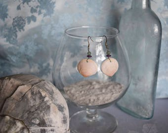 Miniature Atlantic Semele Earrings with Aventurine and Amethyst