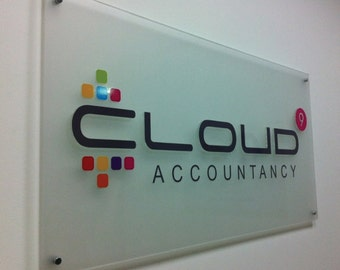 Custom Acrylic Signs, Wall Sign For your Business logo or your office and home ( Free Design for you by Bannerbuzz )
