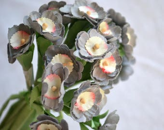 Vintage Lavender Millinery Flowers on Wire Stems