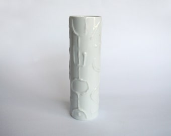 Vintage Rosenthal Op Art vase. Designed by Cuno Fischer. 1960's