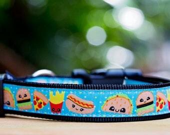 Cheat Day Dog Collar / Dog Collars Australia / XS-XL / Fast Food Dog Collar
