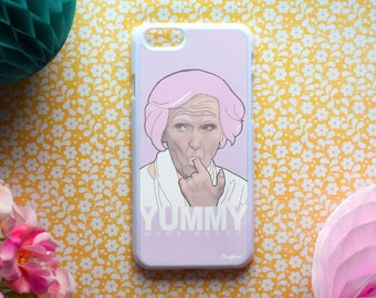 "Mary Berry - ""Yummy"" Phone Case - Illustration (Various models available - for iPhone, Samsung, Sony, HTC) Great British Bake Off"