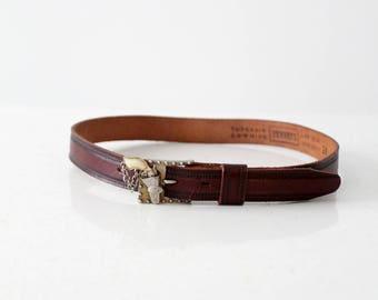 vintage 1940s Penney's western belt. vintage children's belt