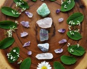 Flash Sale, Raw crystal bundle, crystal gift set, starter kit, amethyst