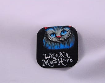 Cheshire Cat Alice In Wonderland Inspired Magnet
