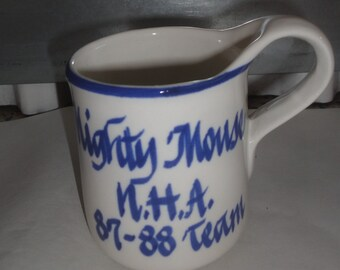Vintage 1980's Mighty Mouse N.H.A. Mug