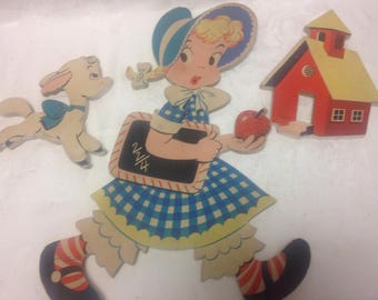 Mother Goose Pin Ups Wall Decor - Mary Had A Little Lamb