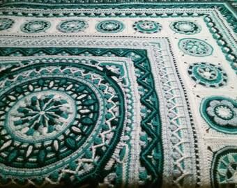 Handmade Crochet Queen-sized Bedspread