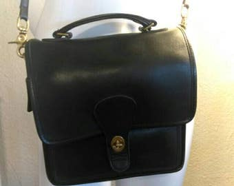Vintage Coach Messenger Black Purse